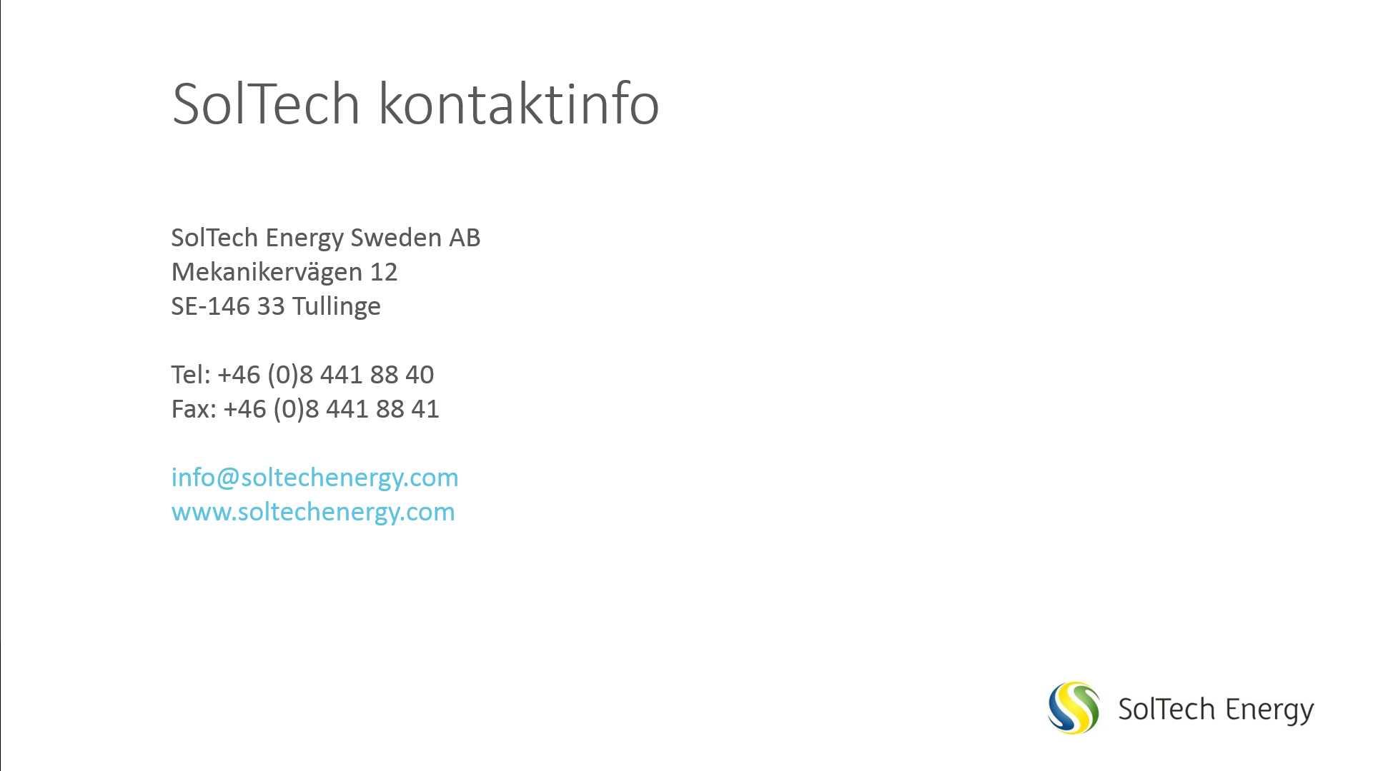 Soltech Energy Sweden